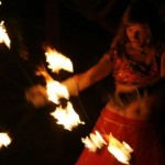 Dancer Show with fire