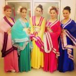 kimono style dancers thailand
