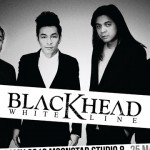 Black head white line concert