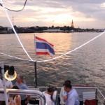 amazing boat party - sunset - river bangkok