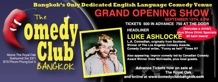 GRAND OPENING SHOW of The Comedy Club Bangkok
