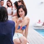 sexy bikini pool party